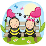 Two bees Royalty Free Stock Image