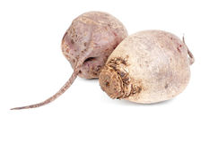 Two beet purple vegetable  on white Royalty Free Stock Image