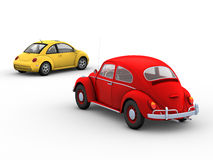Two Beetles Stock Image