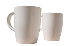 Two beige porcelain cups Royalty Free Stock Photos