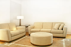 Two beige sofas Stock Photography