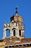 Two belfries in Venice Royalty Free Stock Images