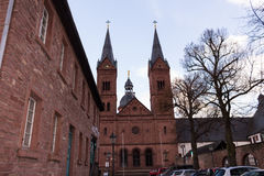 Two bell tower at church #2. Seligestadt Rhein Main Stock Photography