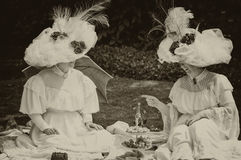 Two `Belle Epoque` ladies. Royalty Free Stock Photography