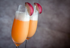 Two bellini cocktails Royalty Free Stock Photography