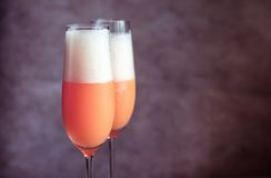 Two bellini cocktails Royalty Free Stock Image