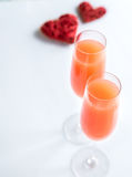 Two bellini cocktails Stock Image