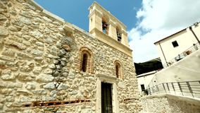 Monasteries and churches of Greece. Two bells against the blue sky. Visit to the monasteries and churches of Greece stock footage