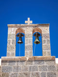 Two bells on a steeple Royalty Free Stock Image