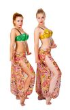 Two belly dancers Royalty Free Stock Image