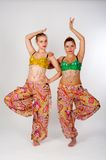 Two belly dancers Royalty Free Stock Photography