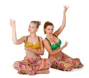 Two belly dancers Stock Photography