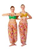 Two belly dancers Stock Image