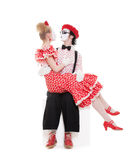 Two beloved mimes Stock Photos