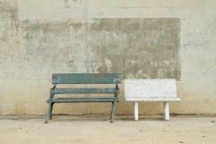 Two bench Royalty Free Stock Image