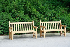 Two Benches Stock Photography