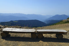 Free Two Benches In The Mountains Stock Images - 45904204