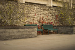 Two Benches Royalty Free Stock Images