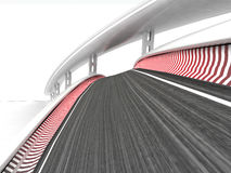Two bended race tracks on white background. Illustration Royalty Free Stock Photo