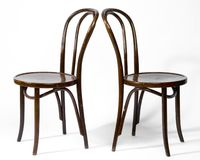 Two Bentwood Chairs Royalty Free Stock Images