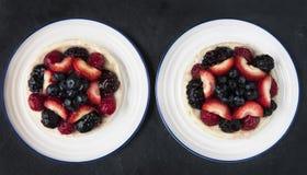 Two Berry Tarts Royalty Free Stock Photos