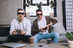 Gamers playing party royalty free stock image