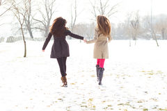 Two best friends walking together Stock Photography