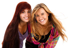 Two the best girl friends Stock Images