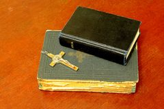 Two bibles Stock Images