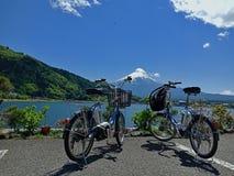 Fuji Kawaguchiko lake, Japan royalty free stock photos