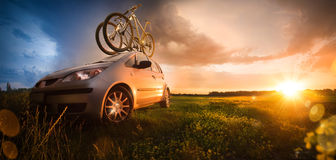 Two bicycle royalty free stock photos