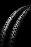 Two bicycle tires Royalty Free Stock Image