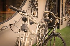 Two bicycle,vintage effect filter Royalty Free Stock Photography
