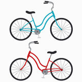 Two bicycles. Two classic bike on a white background Stock Photography
