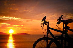 Two bicycles. Royalty Free Stock Image