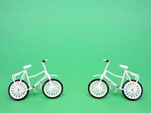 Two bicycles. Toys. Stock Photo