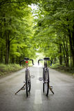 Two bicycles. On the way to the mountains Royalty Free Stock Photo
