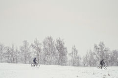 Two bicyclist Royalty Free Stock Images