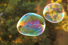 Two big air bubbles Royalty Free Stock Photos