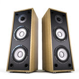 Two Big Audio Speakers boxes Royalty Free Stock Image