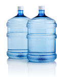 Two Big Bottles Of Water Isolated On White Background Royalty Free Stock Photography