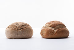 Two big breads Stock Photography
