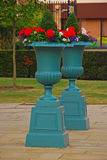 Two Big Classical Flower Pots Stock Image