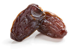 Two big date fruits Stock Photo