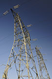 Two Big Electricity Pylons Royalty Free Stock Photo