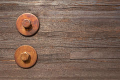 Two big hexagon bolts with washers Royalty Free Stock Photography