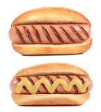 Two big Hotdogs Royalty Free Stock Photo