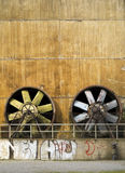 Two big industrial fans Royalty Free Stock Photography