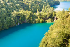 Two big lakes - Plitivice National park. Stock Photography