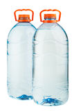 Two big plastic water bottles Stock Image